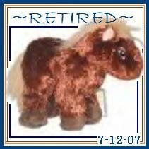 Webkinz BROWN HORSE ~Officially Retired 7-12-07~ Sealed tag!