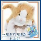 Webkinz ORANGE GOLD WHITE cat ~Officially Retired 7-12-07~ Sealed tags!