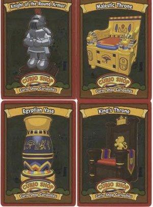Webkinz CURIO SHOP CURIOSITIES Rare FOIL cards #1-4