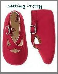 Gymboree SITTING PRETTY toile crib shoes size 4