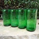 Recycled Grolsch Beer Bottle Glasses set of 4