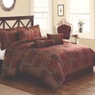 Catarina Red King Comforter Set with Bonus Pillows