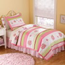 Crazy Pink Ladybug Twin Quilt with Pillow Sham