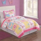 Flutter of Butterflies Twin Quilt with Sham
