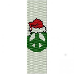 CHRISTMAS PEACE  - LOOM beading pattern for cuff bracelet SALE HALF PRICE OFF