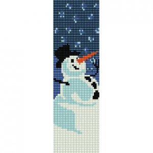 HAPPY SNOWMAN - PEYOTE beading pattern for cuff bracelet SALE HALF PRICE OFF