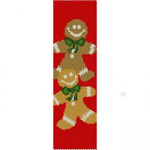 GINGERBREAD MAN - PEYOTE beading pattern for cuff bracelet SALE