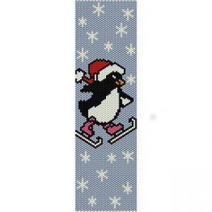 CHRISTMAS PENGUIN - PEYOTE beading pattern for cuff bracelet SALE HALF PRICE OFF
