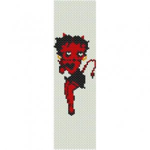 BETTY BOOP SEXY DEVIL  - LOOM beading pattern for cuff bracelet SALE HALF PRICE OFF