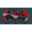 SUPERHERO BATMAN  - LOOM beading pattern for cuff bracelet FINAL SALE! 50% OFF!