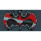 SUPERHERO BATMAN  - LOOM beading pattern for cuff bracelet SALE HALF PRICE OFF
