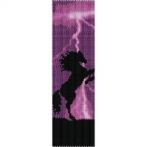 Bead Pattern Western Cowgirl Riding Horse Peyote Loom | eBay
