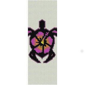 Hibiscus Turtle Loom Beading Pattern For Cuff Bracelet Half Price Off