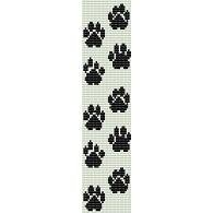 PAW PRINTS  - LOOM beading pattern for cuff bracelet SALE