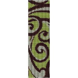 SPRING SWIRLS - PEYOTE beading pattern for cuff bracelet SALE HALF PRICE OFF