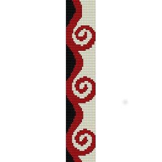 FANCY CURLS - PEYOTE beading pattern for cuff bracelet SALE HALF PRICE OFF