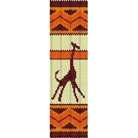 AFRICAN GIRAFFE - PEYOTE beading pattern for cuff bracelet SALE HALF PRICE OFF