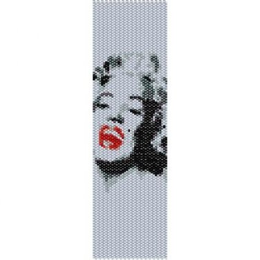 MARILYN MONROE TOO - PEYOTE beading pattern for cuff bracelet SALE HALF PRICE OFF