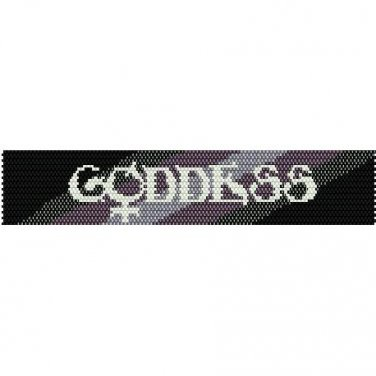 GODDESS  - LOOM beading pattern for cuff bracelet SALE