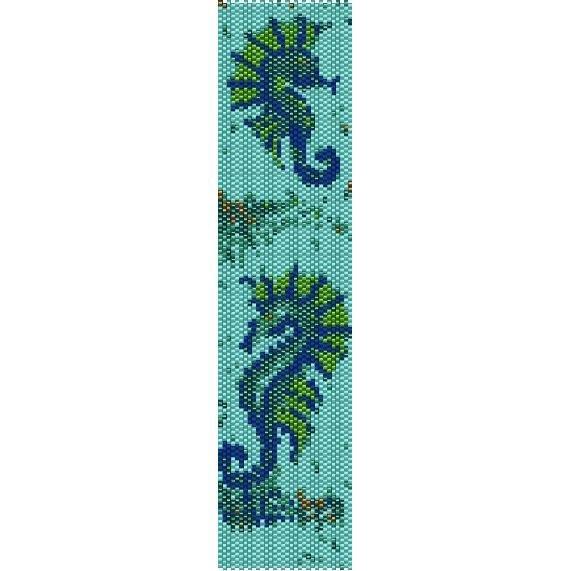 Seahorses Loom Beading Pattern For Cuff Bracelet Sale