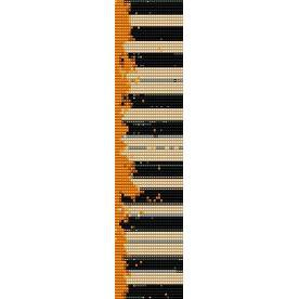 OLD PIANO  - LOOM beading pattern for cuff bracelet SALE HALF PRICE OFF