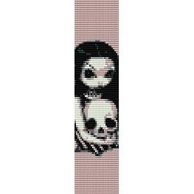 GOTHIC ANGEL SKULL  - LOOM beading pattern for cuff bracelet SALE HALF PRICE OFF