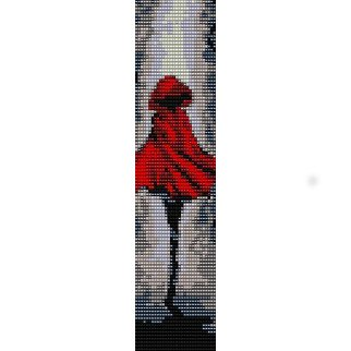 LITTLE RED RIDING HOOD ART  - LOOM beading pattern for cuff bracelet SALE HALF PRICE OFF