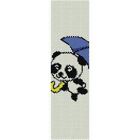 PANDA WITH UMBRELLA  - LOOM beading pattern for cuff bracelet SALE HALF PRICE OFF