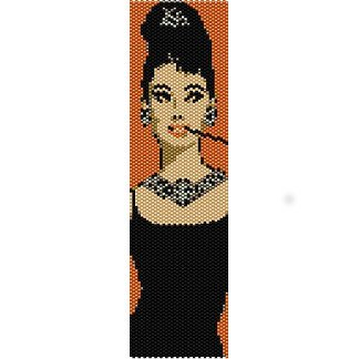 AUDREY HEPBURN DIAMONDS - PEYOTE beading pattern for cuff bracelet SALE HALF PRICE OFF