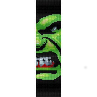 THE INCREDIBLE HULK  - LOOM beading pattern for cuff bracelet SALE HALF PRICE OFF