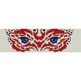 TRIBAL EYES  - LOOM beading pattern for cuff bracelet SALE