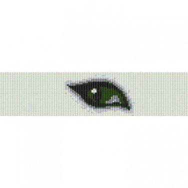 GREEN EYE  - LOOM beading pattern for cuff bracelet SALE HALF PRICE OFF