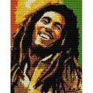 BOB MARLEY ART  - beading PANEL pattern for PEYOTE HOLIDAY SALE