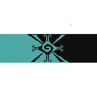 AZTEC MAYAN HUNAB KU SYMBOL  - LOOM beading pattern for cuff bracelet SALE HALF PRICE OFF
