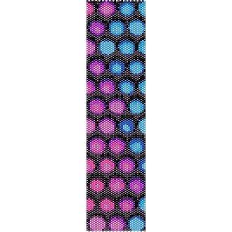 FUNKY BUBBLES  - LOOM beading pattern for cuff bracelet SALE HALF PRICE OFF