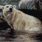 POLAR BEAR PANEL - PEYOTE beading panel pattern