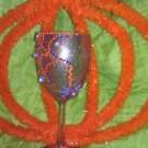 "Halloween Wine glasses ""Spooky fun"" hand painted and decorated"