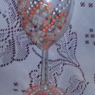 "Gemstones Wine glasses ""Flame of Love"" 1 set of 2, decorated with chips of natural stones."