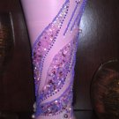 "A Hand Decorated Pink Vase ""Swan in Purple"""