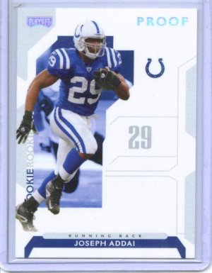2006 Playoff Joseph Addai Silver Proof Parallel Rookie