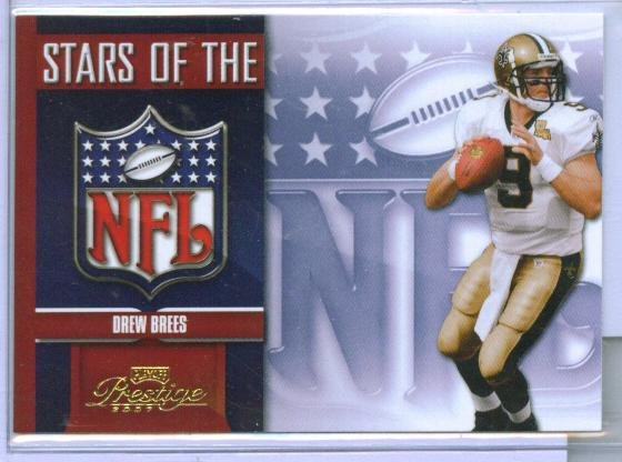 07 Prestige Stars of the NFL Drew Brees Insert
