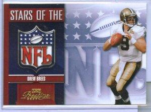 07 Prestige Stars of the NFL Drew Brees Insert