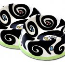 Black and White Large - Personalized - Hand Painted Dog Bowl - Customized