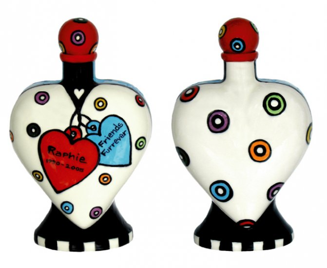 Pet - Dog - Urn - Friends  Are Furever - Handpainted - Personalized Dog Urn