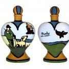 Pet - Dog - Urn - Hunters Companion Dog Heart Urn - Handpainted - Personalized