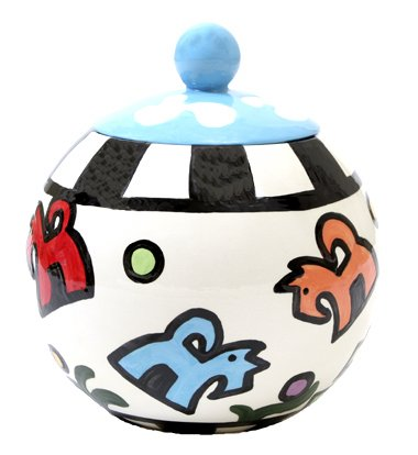 Bonznmice - Dog Treat Jar - 7 Inch - Handpainted - Personalized
