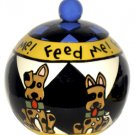 Feed Me - Dog Treat Jar - 7 Inch - Handpainted - Personalized