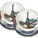 J'adore Paris - Set Of Cat Bowls - Handpainted - Persoanalized
