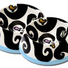 Black and White With Colour - Cat Bowls - Handpainted - Personalized
