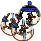 Psychedelic Furs - Small Set Of Dog Bowls - Small Pet Dog Treat Jar